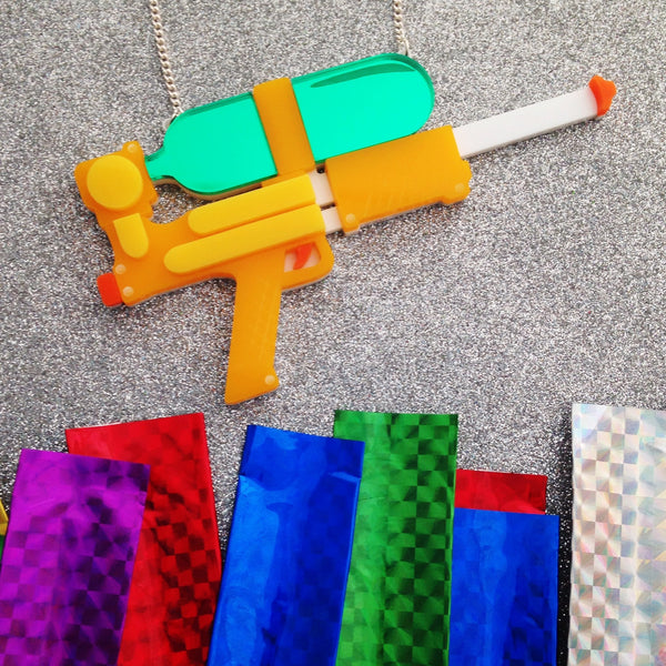 Water Gun Necklace - Hand Over Your Fairy Cakes - hoyfc.com