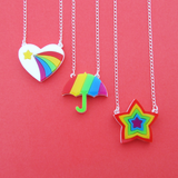 White Vintage Eraser Necklaces - Hand Over Your Fairy Cakes - hoyfc.com