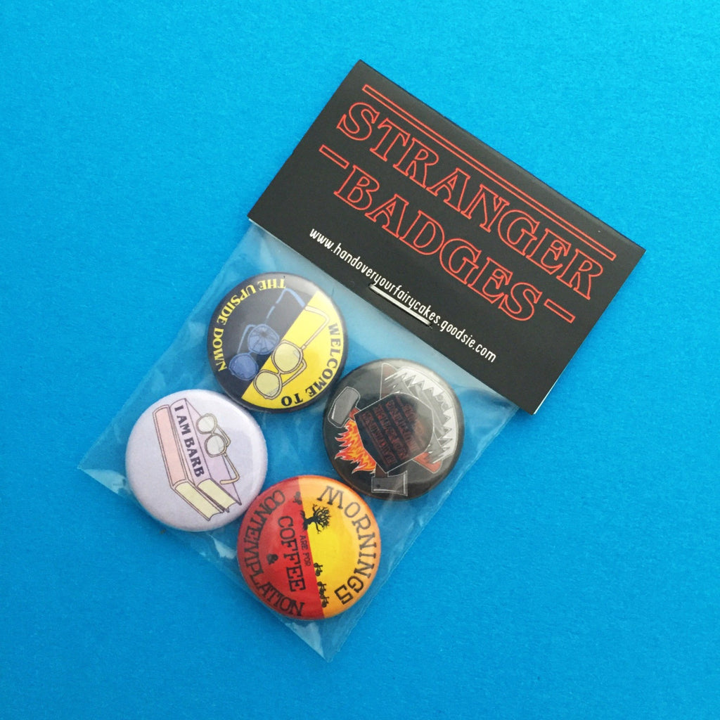 Stranger Things Badge Pack - Hand Over Your Fairy Cakes - hoyfc.com