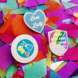 Boss Lady - Enamel Pin - Hand Over Your Fairy Cakes - hoyfc.com