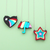 Black Vintage Eraser Necklaces