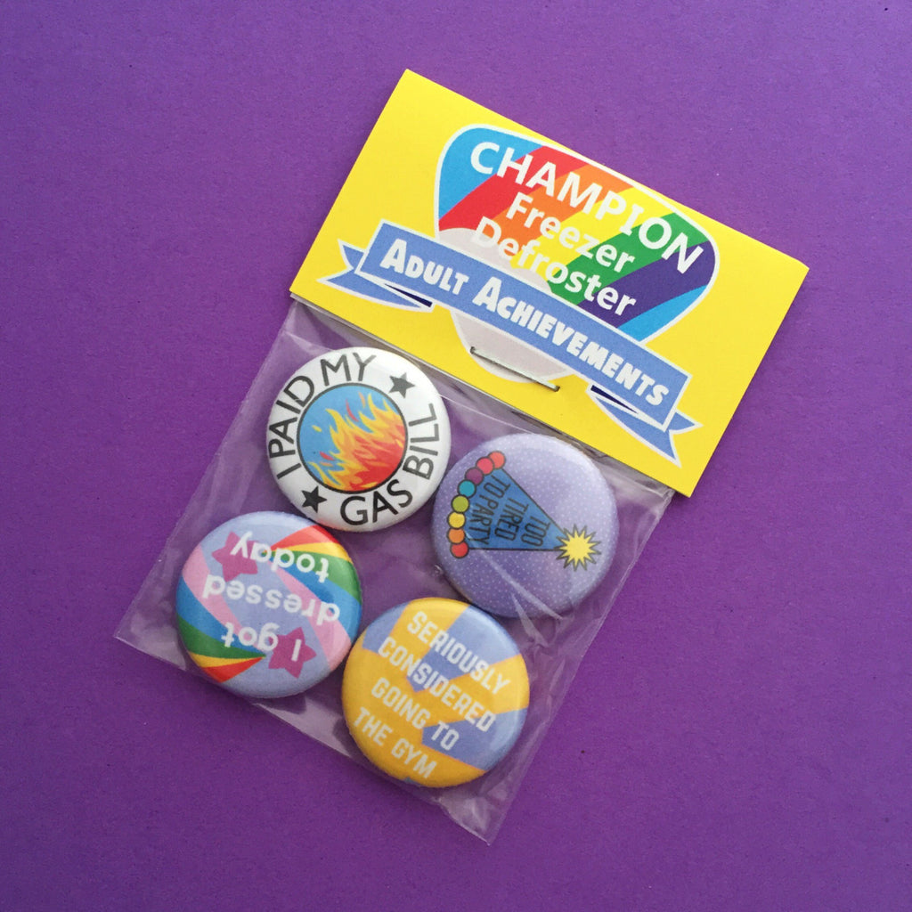 Adult Achievement Badge Pack - Hand Over Your Fairy Cakes - hoyfc.com