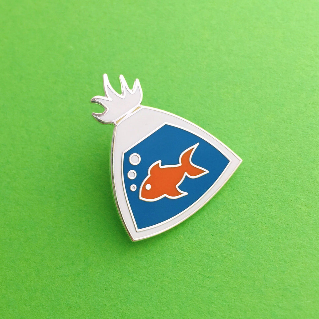Fish In A Bag - Enamel Pin - Hand Over Your Fairy Cakes - hoyfc.com