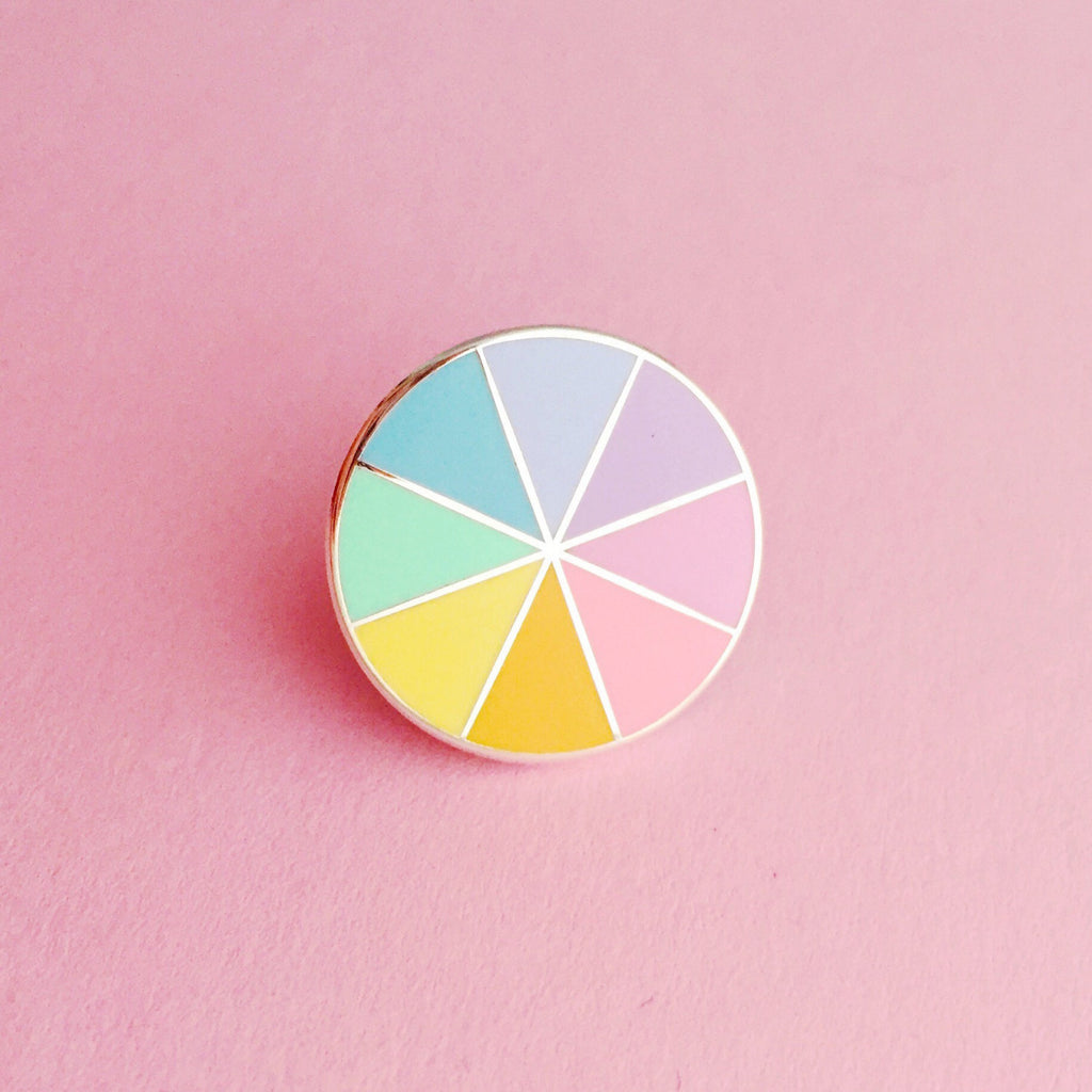 Pastel Colour Wheel - Enamel Pin - Hand Over Your Fairy Cakes - hoyfc.com