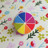 Bright Colour Wheel Enamel Pin - Hand Over Your Fairy Cakes - hoyfc.com