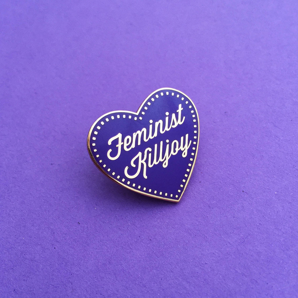 Feminist Killjoy - Rose Gold Enamel Pin - Hand Over Your Fairy Cakes - hoyfc.com