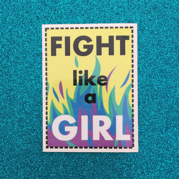 Fight Like A Girl Vinyl Sticker