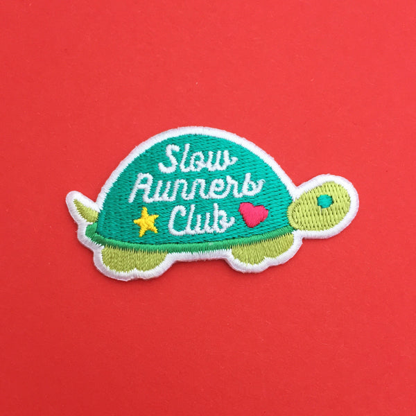 Slow Runners Club Patch - Hand Over Your Fairy Cakes - hoyfc.com