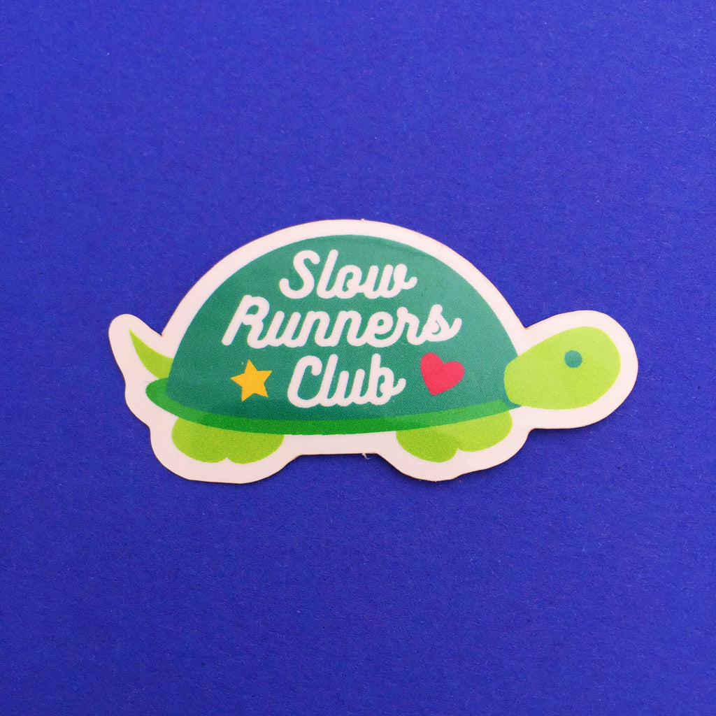 Slow Runners Club Vinyl Sticker - Hand Over Your Fairy Cakes - hoyfc.com