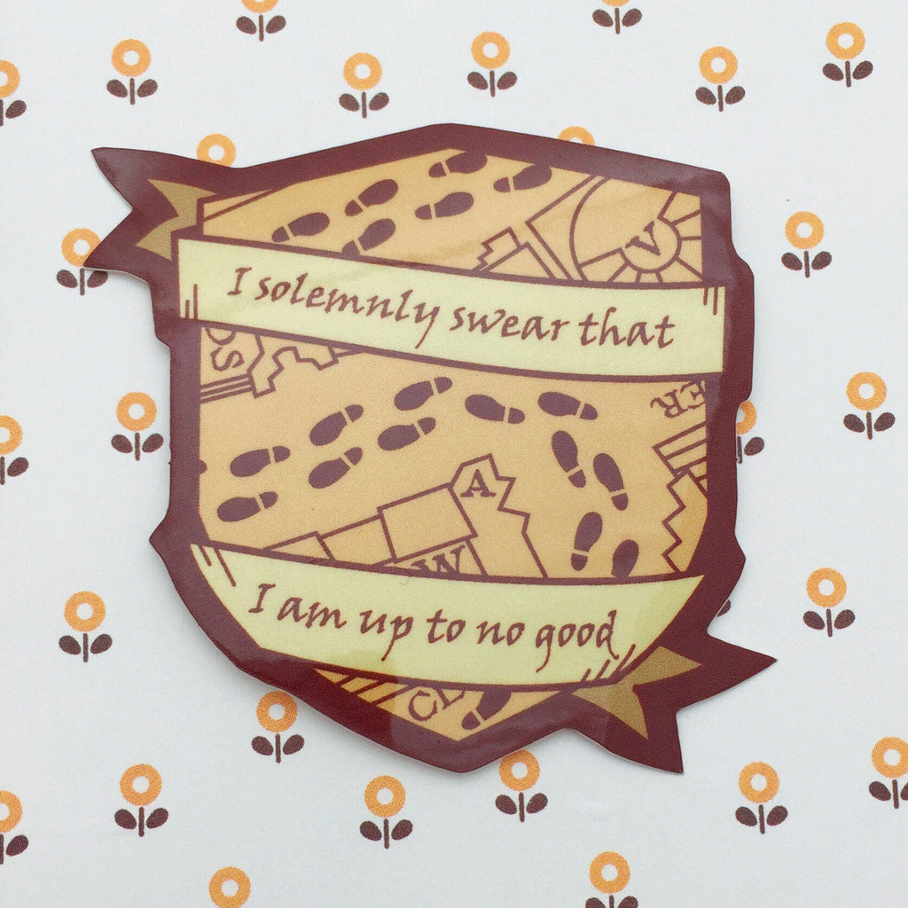 I Solemnly Swear That I Am Up To No Good Vinyl Sticker - Hand Over Your Fairy Cakes - hoyfc.com