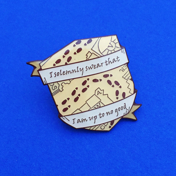 I Solemnly Swear That I Am Up To No Good Enamel Pin - Hand Over Your Fairy Cakes - hoyfc.com