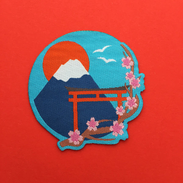 Japan Mount Fuji Cherry Blossom Patch - Hand Over Your Fairy Cakes - hoyfc.com