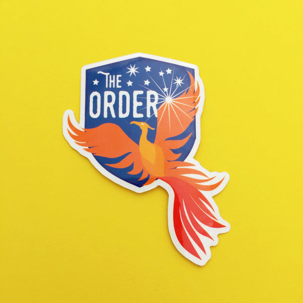 The Order of the Phoenix Vinyl Sticker - Hand Over Your Fairy Cakes - hoyfc.com