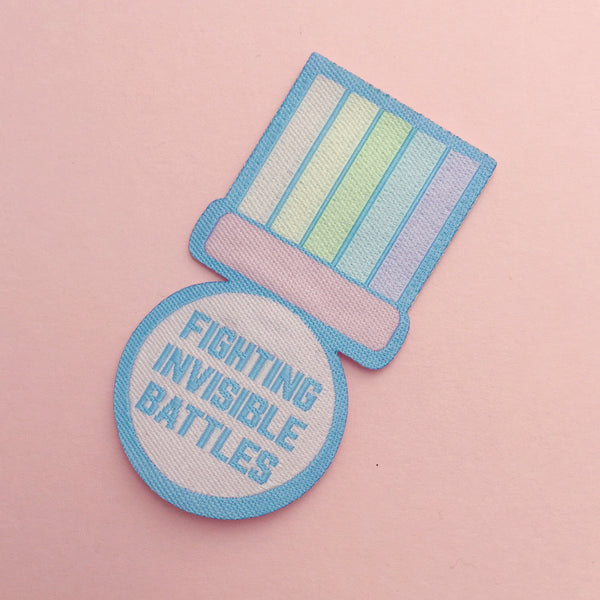 Fighting Invisible Battles Patch - Hand Over Your Fairy Cakes - hoyfc.com