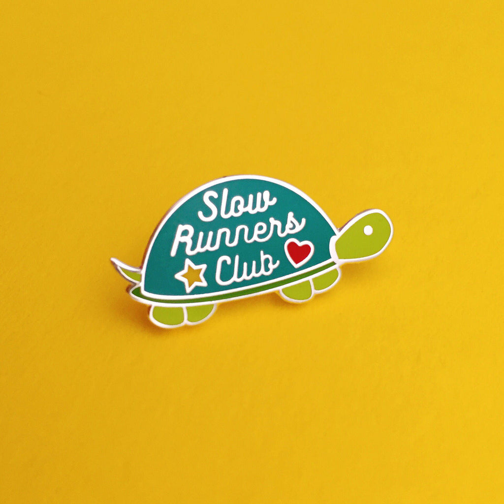 Slow Runners Club - Enamel Pin - Hand Over Your Fairy Cakes - hoyfc.com