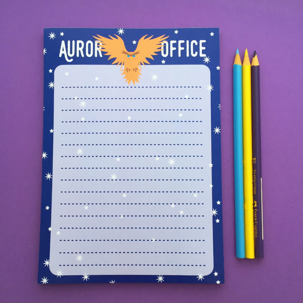 Auror A5 Notepad - Hand Over Your Fairy Cakes - hoyfc.com