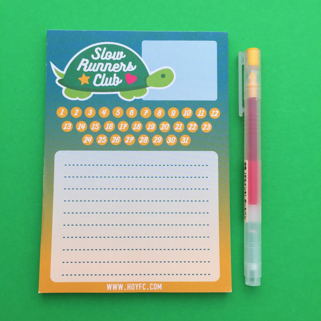 Slow Runners Club A6 Notepad - Hand Over Your Fairy Cakes - hoyfc.com