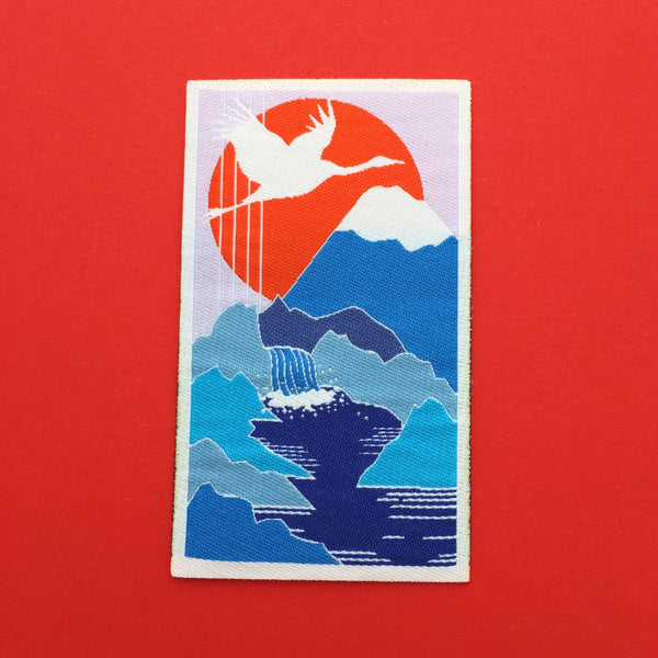 Crane Waterfall Japan Patch