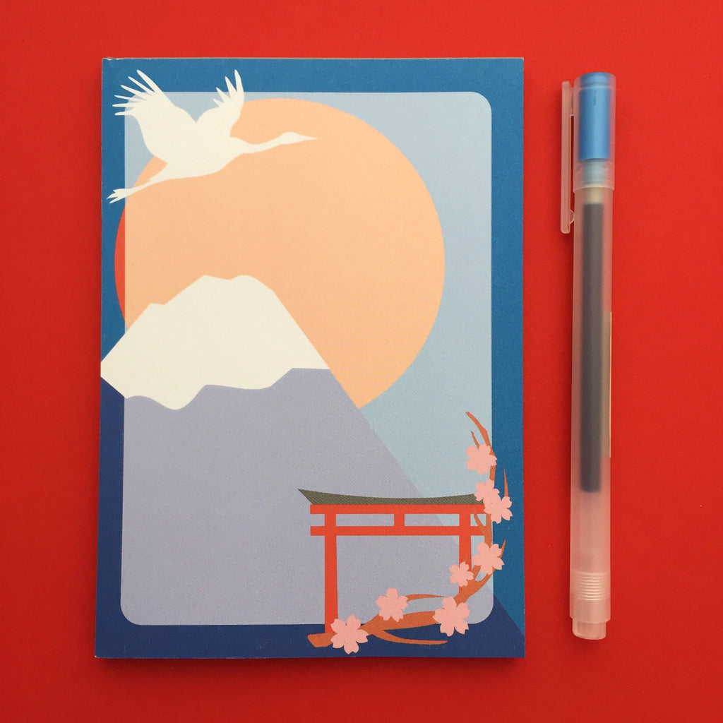 Japan Mount Fuji A6 Notepad - Hand Over Your Fairy Cakes - hoyfc.com