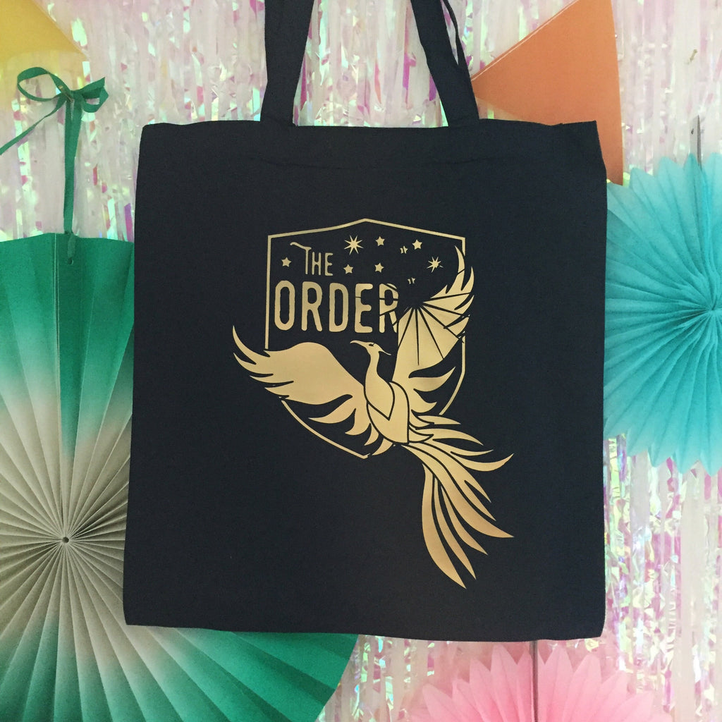 The Order of the Phoenix Gold Foil Tote Bag