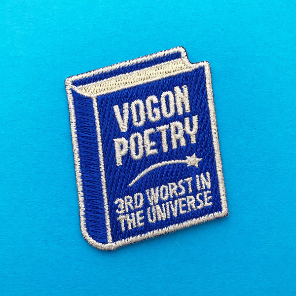 Vogon Poetry Patch - Hand Over Your Fairy Cakes - hoyfc.com