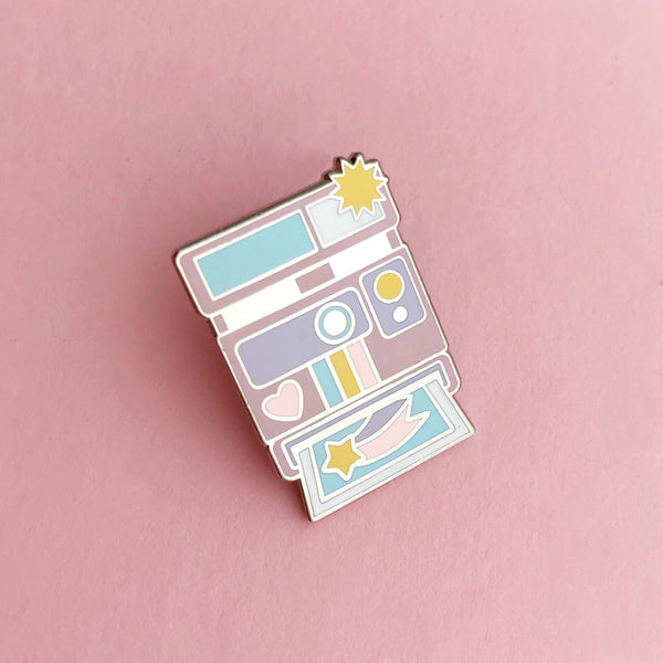 Pastel Camera - Enamel Pin - Hand Over Your Fairy Cakes - hoyfc.com