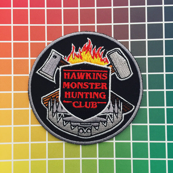 """Hawkins Monster Hunting Club"" Stranger Things - Patch - Hand Over Your Fairy Cakes - hoyfc.com"