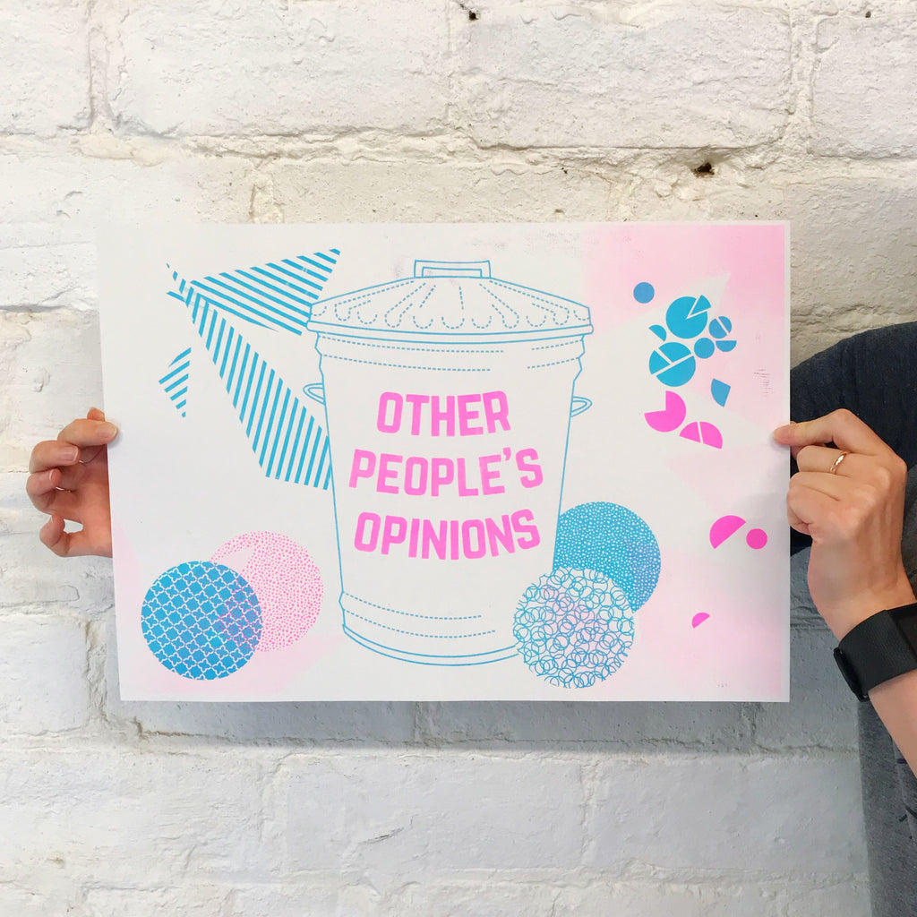 Other People's Opinions A3 Riso Print - Hand Over Your Fairy Cakes - hoyfc.com