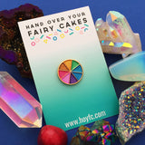 Pastel Pearl Colour Wheel - Enamel Pin - Hand Over Your Fairy Cakes - hoyfc.com