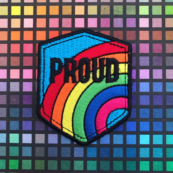 Proud Rainbow Patch - Hand Over Your Fairy Cakes - hoyfc.com