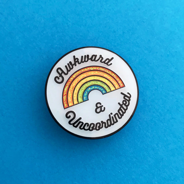 Awkward & Uncoordinated Enamel Pin - Hand Over Your Fairy Cakes - hoyfc.com