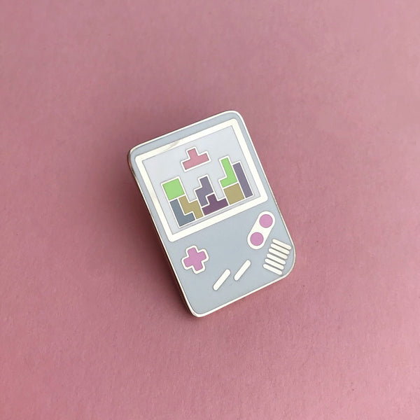 Pastel Gameboy Tetris Enamel Pin - Hand Over Your Fairy Cakes - hoyfc.com