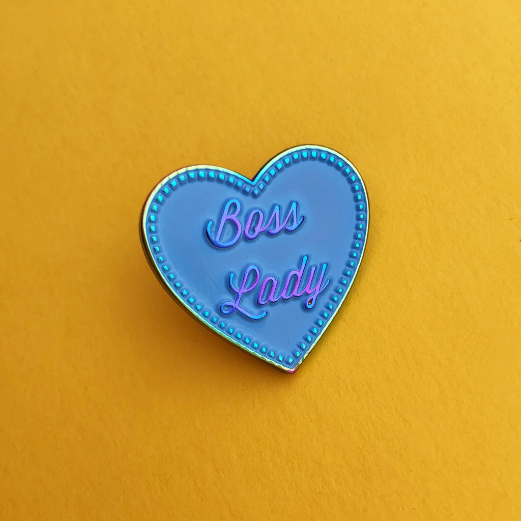 Rainbow Boss Lady - Enamel Pin - Hand Over Your Fairy Cakes - hoyfc.com