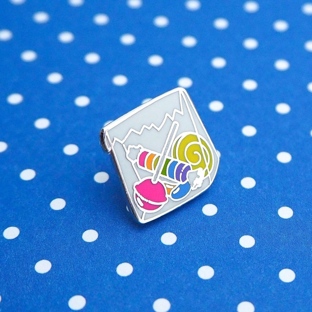 10p Mix Up Enamel Pin