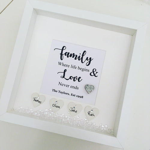 Personalised Family Quote Frame