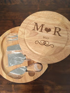 Personalised Cheeseboard and Knives Set