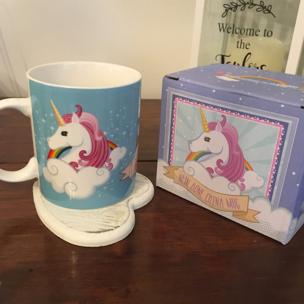 'I Don't Believe in Humans' Unicorn Mug