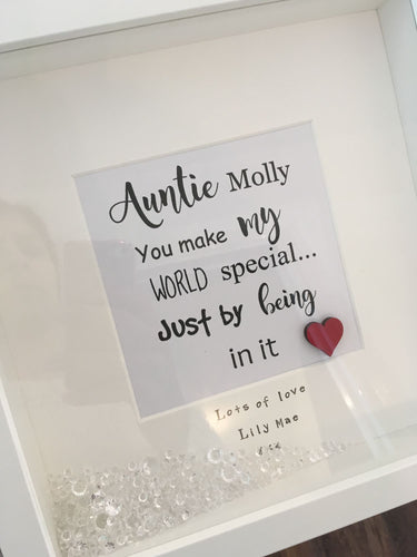 Personalised Frame for an Auntie