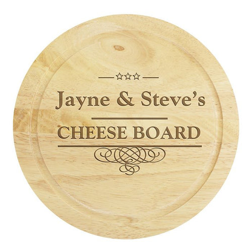 Personalised Cheeseboard and Knives Set. Ideal Wedding Gift