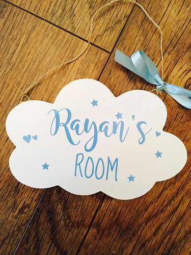 Hanging Cloud Door Plaque