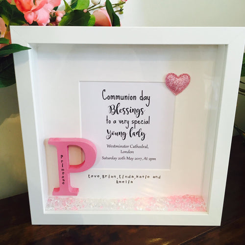 Personalised Communion Frame Keepsake