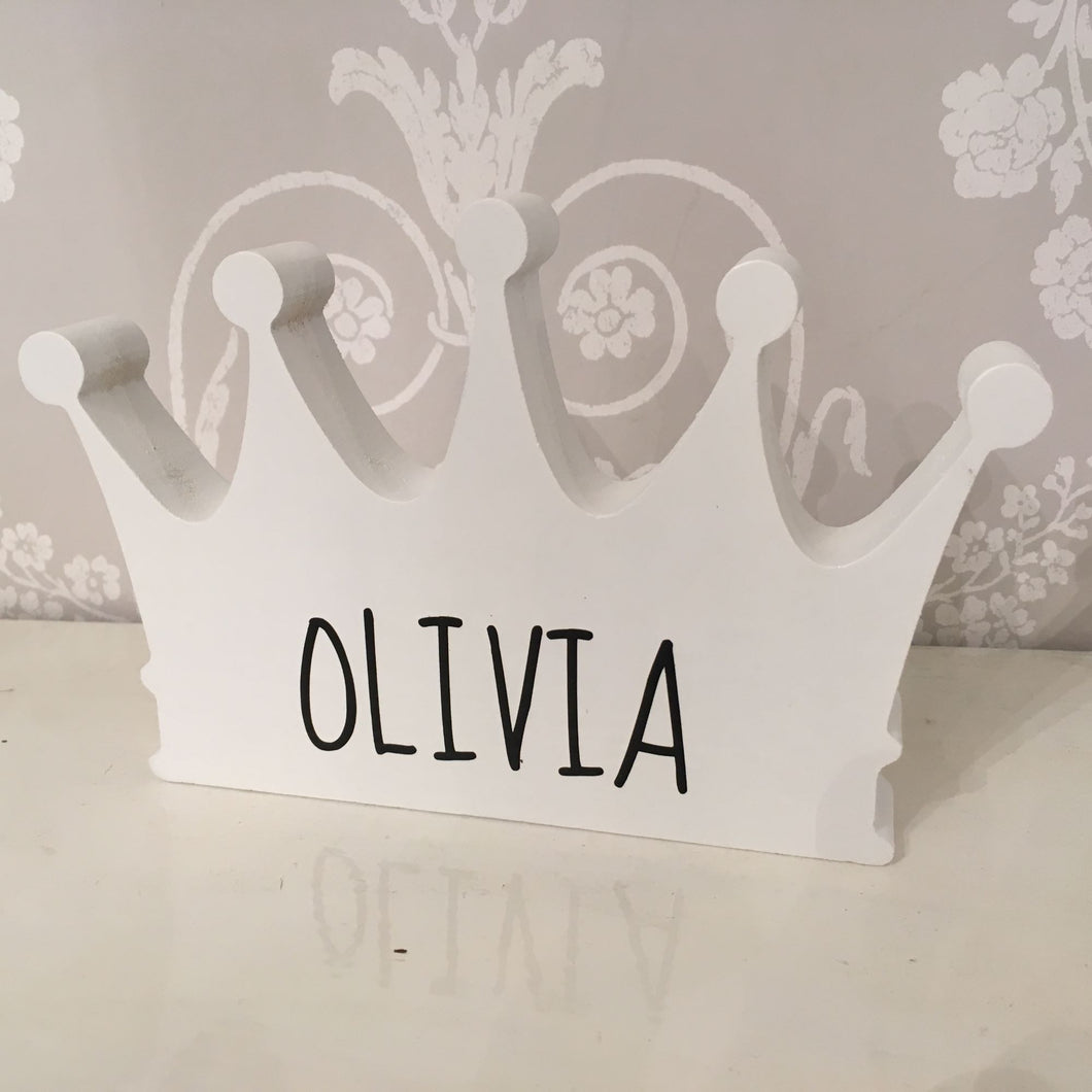Freestanding Personalised Crown for Child's Room