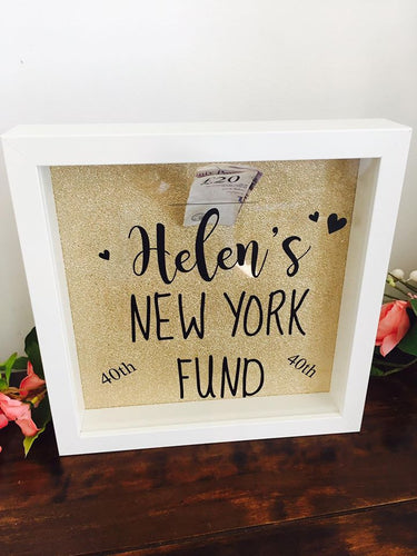 CUSTOM Money Box Fund Frame- Choose your own wording.