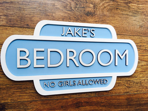 Child's Personalised Door Plaque
