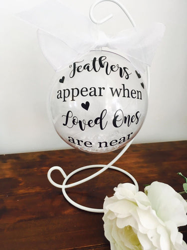 Large 'Loved One' Remembrance Bauble