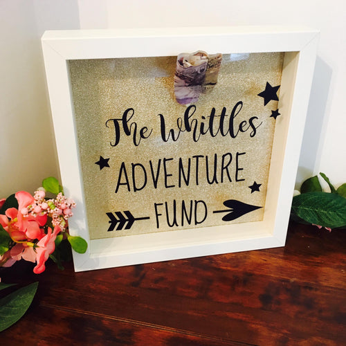 Adventure Fund Money Box Frame - Personalised