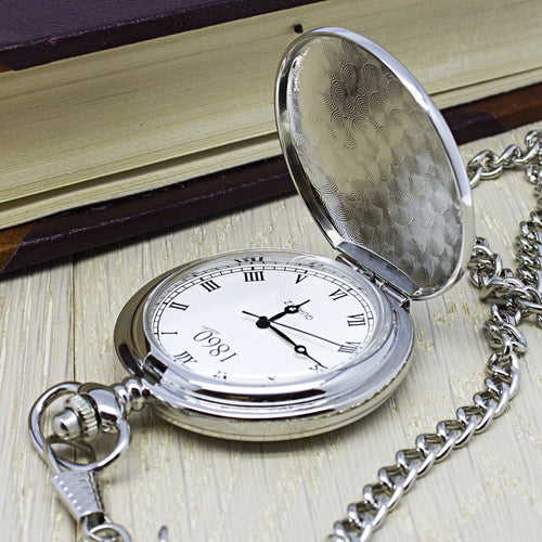 Personalised Pocket Watch for Groomsman, Father of the Bride, Best Man