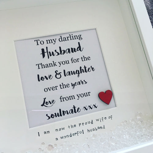 Darling Husband Quote Frame