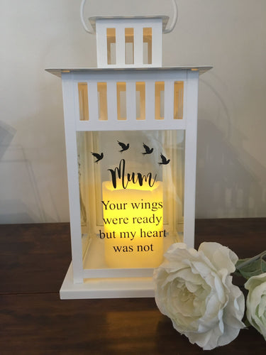 Remembrance Lantern. Personalise With Your Own Wording