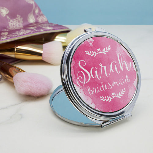 Personalised Wedding-Glam Compact Mirror